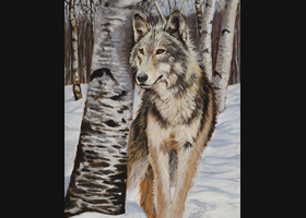Victor Blakey -- Wolf Amid The Aspen Trees
